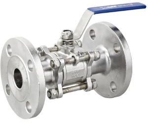 Alloy 20 3 pc flanged ball valve