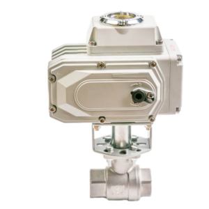 Electric Actuated 2 Piece Screwed Ball Valve